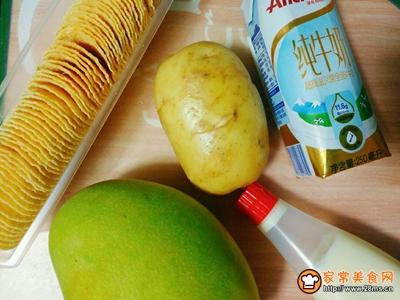 芒果薯泥沙拉的做法图解1