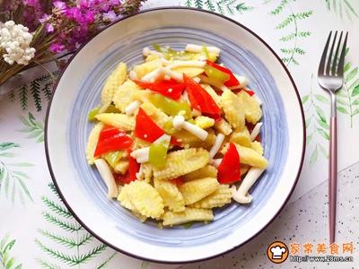 白玉菇炒玉米笋的做法图解18