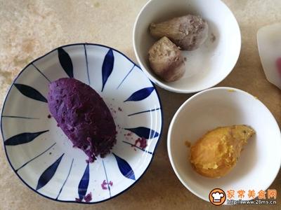 三色薯泥酸奶杯的做法图解1