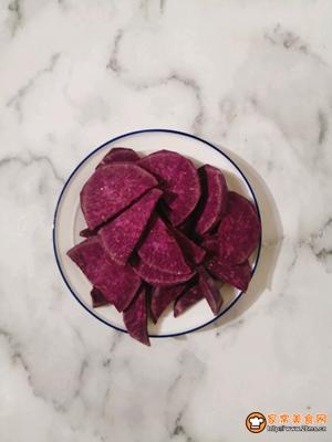 好吃又不会长肉的紫薯酸奶塔的做法图解1
