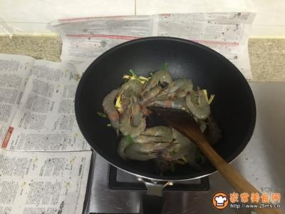 茄汁油焖大虾的做法图解6