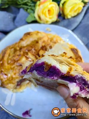 手抓饼紫薯披萨的做法图解7
