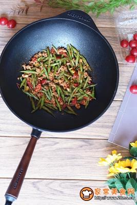 番茄肉末炒四季豆的做法图解14