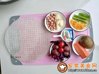 越南蒜香蔬果春卷沙拉的做法图解1