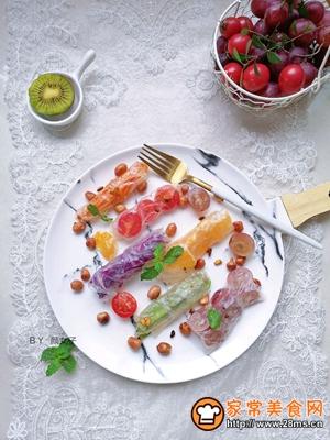 越南蒜香蔬果春卷沙拉的做法图解8