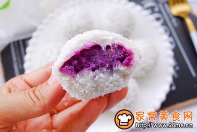 紫薯糯米糍的做法图解13