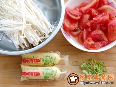 番茄金针豆腐的做法图解1