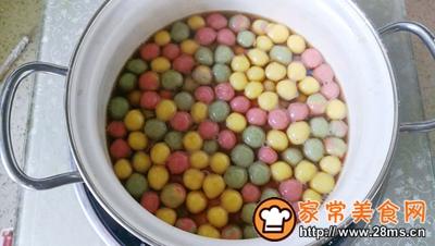 彩虹酒酿小丸子的做法图解12