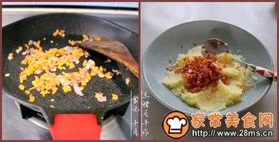 早餐小食波点蛋卷土豆泥沙拉的做法图解4