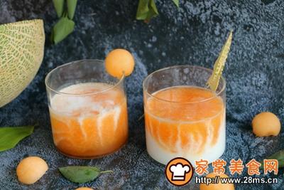 双色大理石纹蜜瓜酸奶的做法图解8