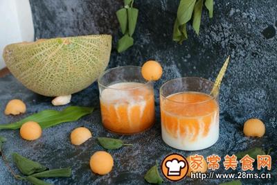 双色大理石纹蜜瓜酸奶的做法图解9