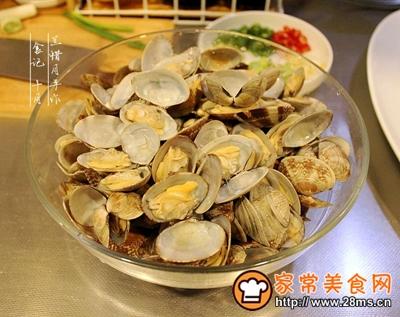 炒花蛤的做法图解5