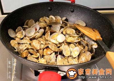 炒花蛤的做法图解7