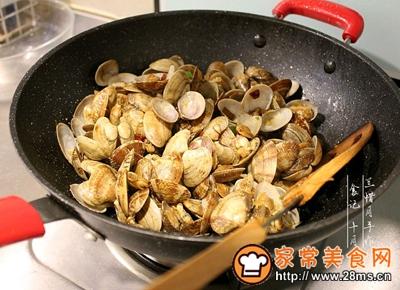 炒花蛤的做法图解8