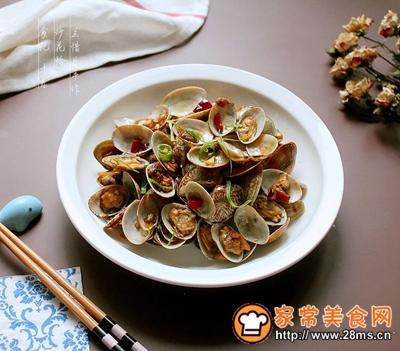 炒花蛤的做法图解9