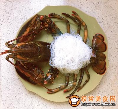 宴客菜蒜蓉粉丝蒸鳌虾的做法图解9