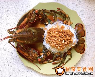 宴客菜蒜蓉粉丝蒸鳌虾的做法图解12