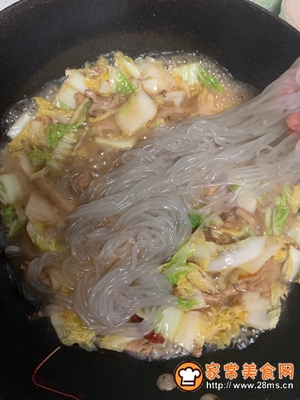 五花肉炖粉条白菜的做法图解11
