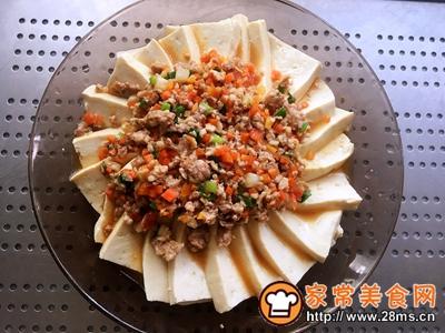 肉末蒸豆腐的做法图解8