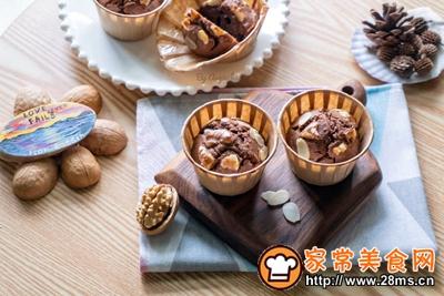核桃榛子巧克力麦芬蛋糕的做法图解11