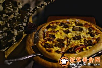黑椒牛肉披萨的做法图解15
