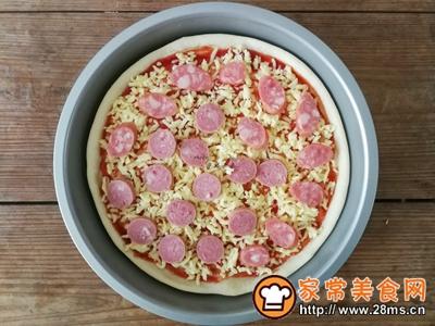 薄底香肠披萨的做法图解12