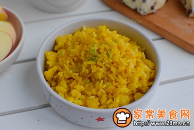 黄金蛋炒饭的做法图解6