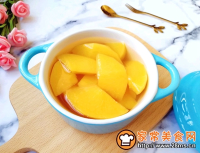 黄桃罐头的做法图解8