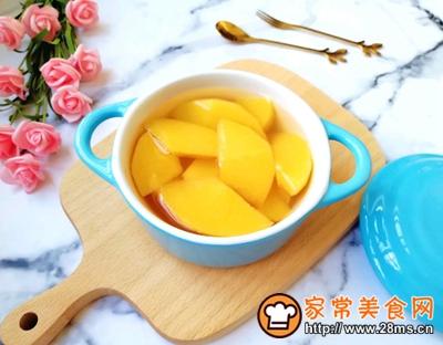 黄桃罐头的做法图解11