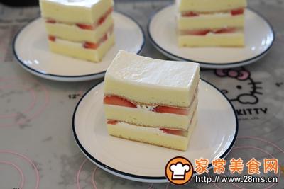 草莓奶油切片蛋糕的做法图解17