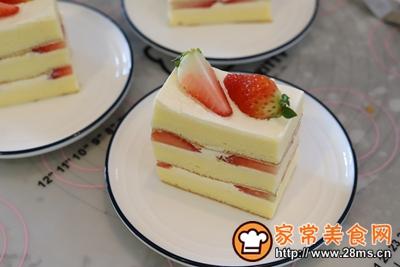 草莓奶油切片蛋糕的做法图解18