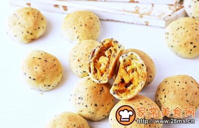 网红霸主~咸蛋黄肉松麻薯的做法图解12