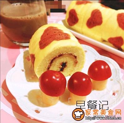 爱心草莓酱蛋糕卷的做法图解21