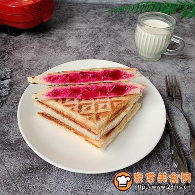火龙果酸奶三明治的做法图解8