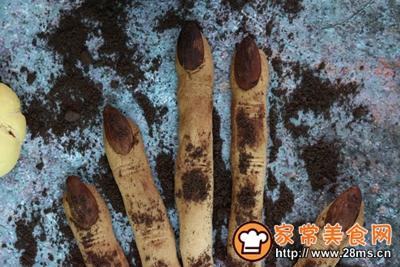女巫手指饼干万圣节零食的做法图解8