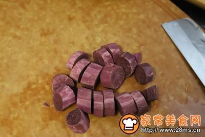 紫薯核桃米糊的做法图解1