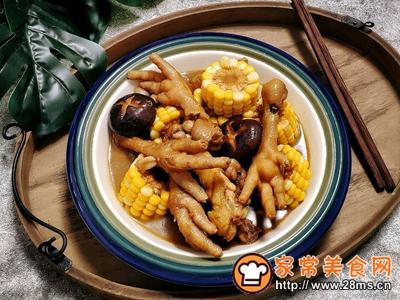 香菇玉米炖鸡爪一锅乱炖一锅鲜的做法图解11