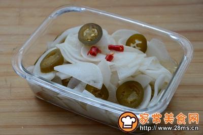 辣椒圈白萝卜泡菜的做法图解4