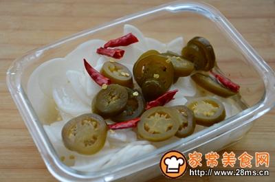 辣椒圈白萝卜泡菜的做法图解6