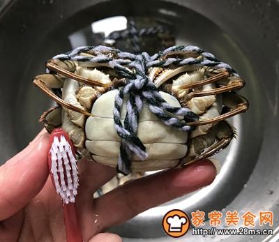 清蒸螃蟹的做法图解3