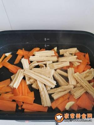 胡萝卜炒腐竹