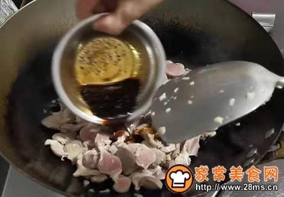 孜然蒜苔炒鸭肾