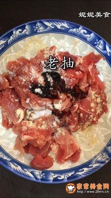 小蒜炒肉片