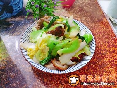 杂蔬炒烧鸭