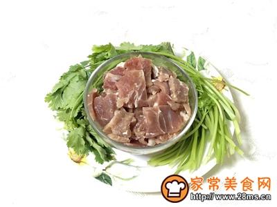香菜嫩牛肉的家常做法