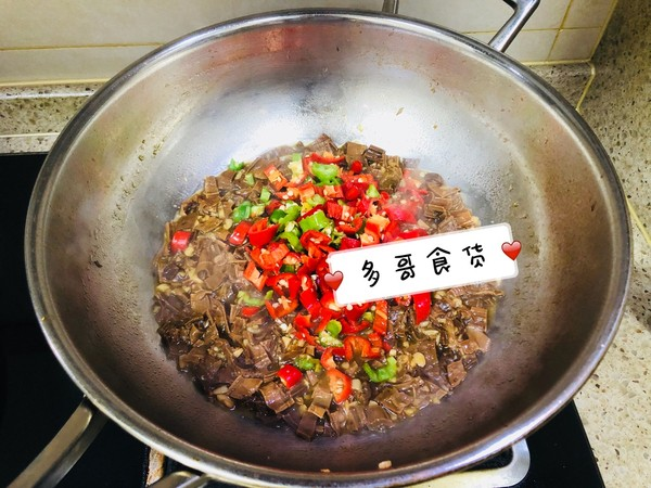 下饭菜~辣椒炒笋干