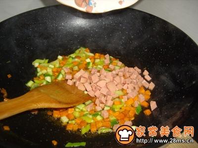 火腿时蔬炒饭