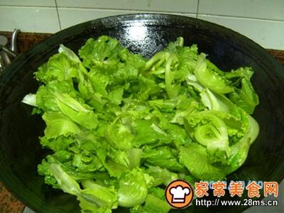 蒜子炒生菜
