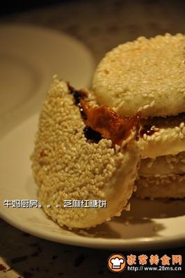 芝麻红糖饼