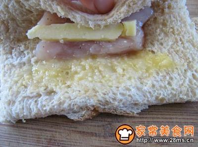 面包香酥乳酪鸡